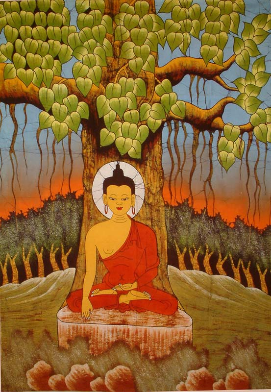 bouddha et larbre bodhi